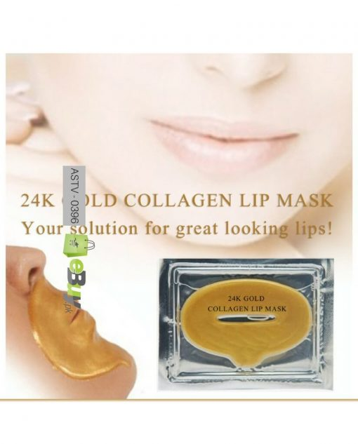 24 K Gold Collagen Anti-Aging Lip Mask Online in Pakistan