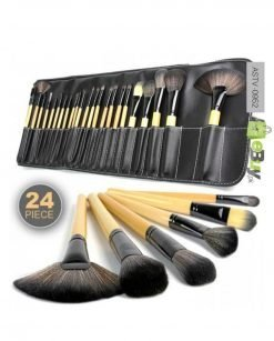 24 Piece Makeup Brush Set With Leather Pouch online at best price in Pakistan