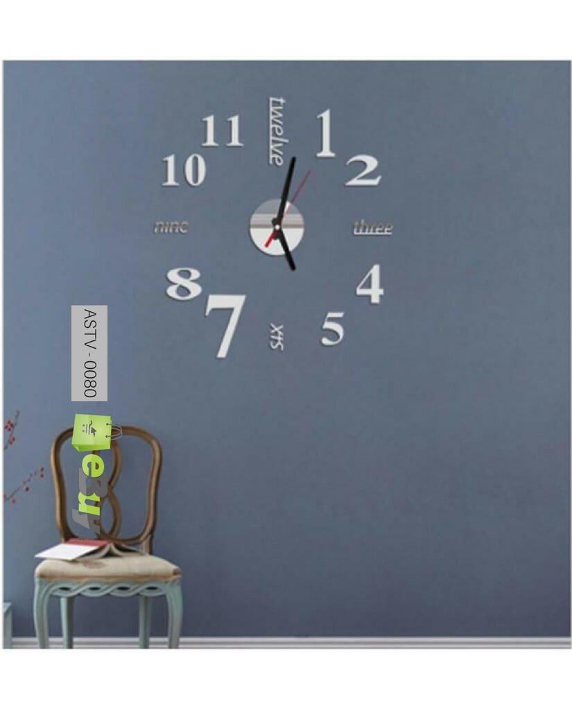 Buy 3d Wall Clock Sticker Online In Pakistan