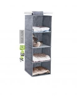 4 Shelf Portable Folding Hanging Wardrobe Section Storage Organizer At Best Price in Pakistan 2