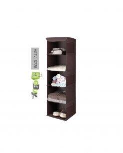 5 Shelf Portable Folding Hanging Wardrobe Section Storage Organizer At Best Price In Pakistan
