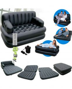 5 in 1 Sofa Cum Bed With Free Air Pump in Pakistan