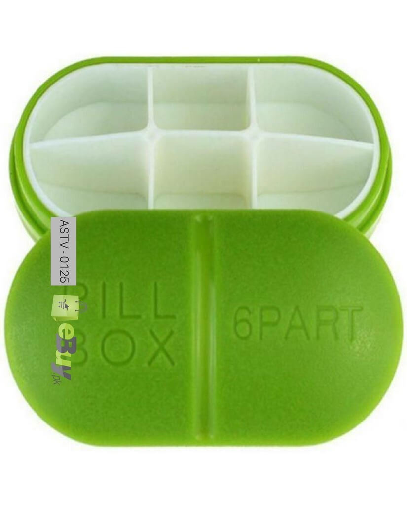 Buy 6 Slots Portable Medical Pill Box Online In Pakistan