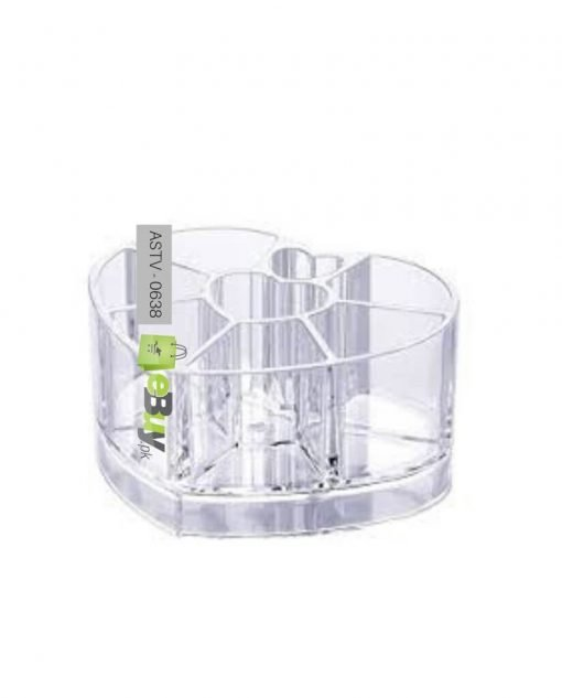 Acrylic Heart Shaped Cosmetic Organizer At Best Price In Pakistan 4