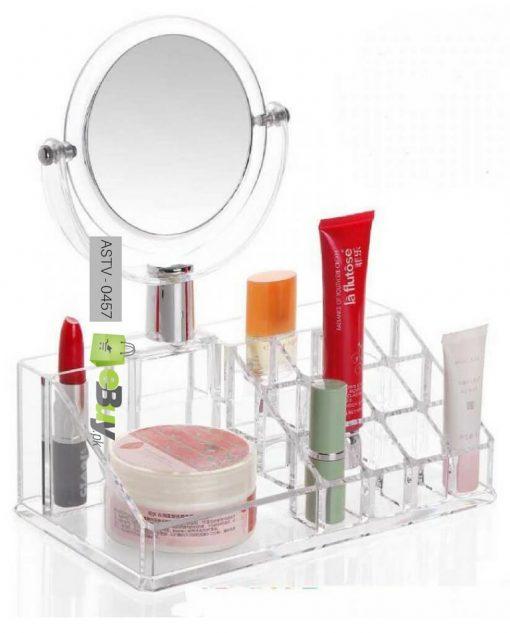 Acrylic Lipstick Cosmetic Organizer With Mirror in Pakistan
