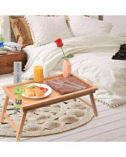 Bamboo Breakfast Folding Table Tray At Best Price In Pakistan