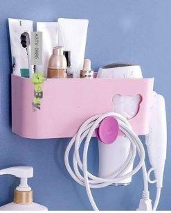 Bathroom Storage Rack with Hairdryer Holder online at best price in Pakistan