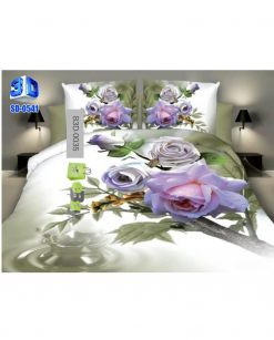 Beautiful Blue Tulip Flowers 3D Bed Sheets AT Best Price In Pakistan