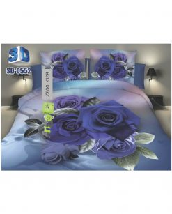 Beautiful Purple Flowers 3D Bed Sheets At Best Price In Pakistan