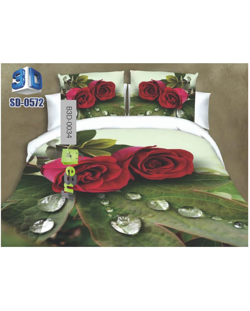 Beautiful Rose Flowers 3d Bed Sheets Online Price In Pakistan Ebuypk
