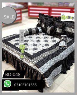Black Color Bridal Bed Sheets BD-048