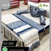 Blue Color Bridal Bed Sheets BD-068