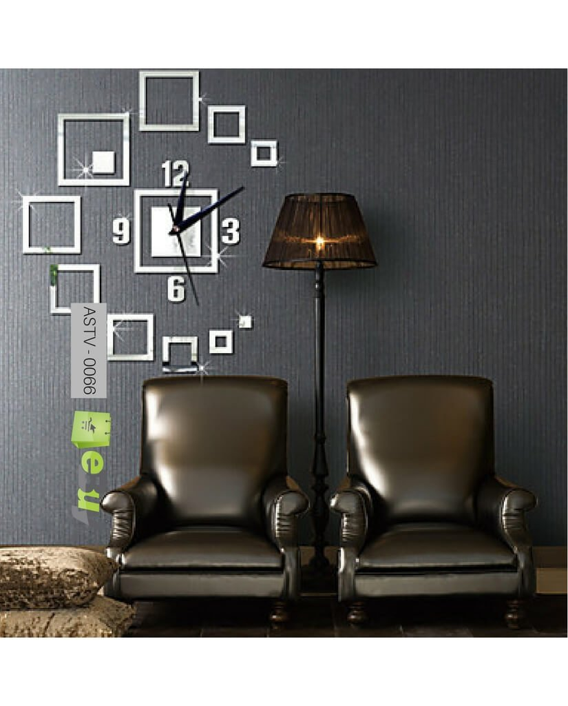 Buy Creative Wall Sticker 3D Wall Clock Online in Pakistan eBuypk