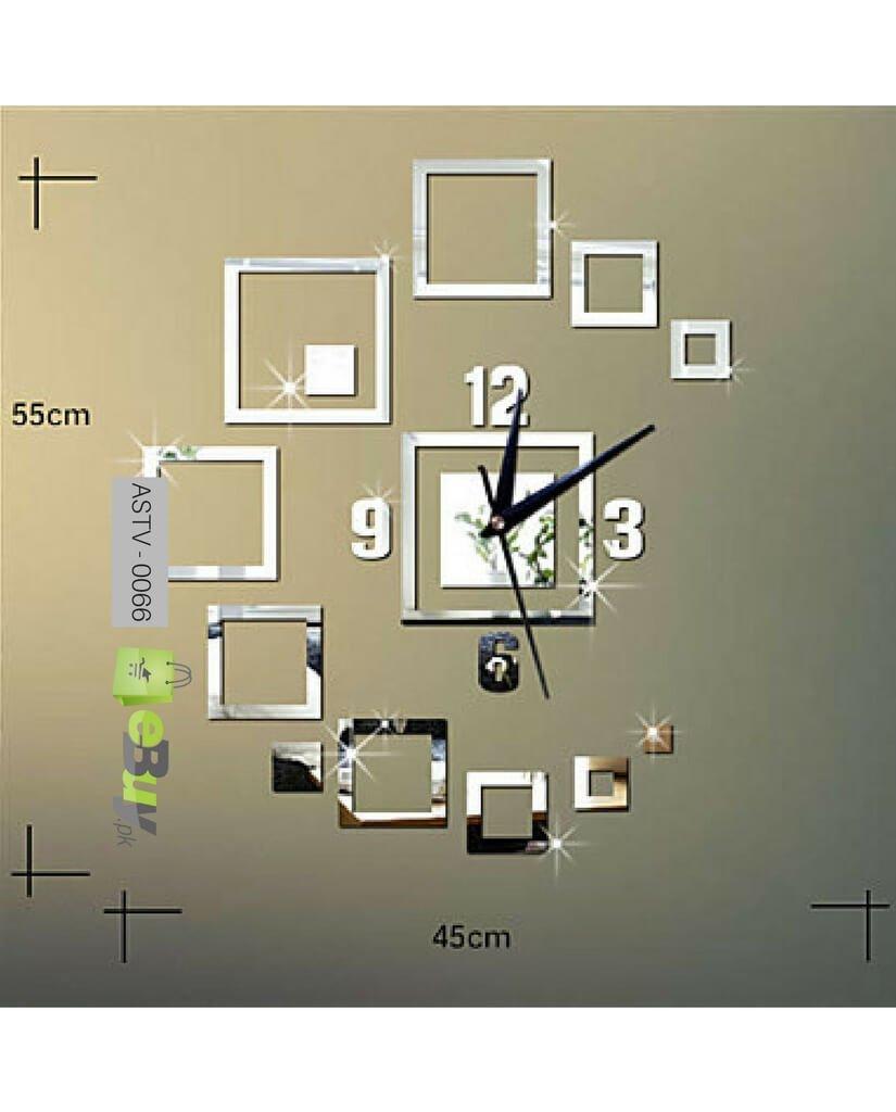 Buy Creative Wall Sticker 3D Wall Clock Online in Pakistan eBuypk