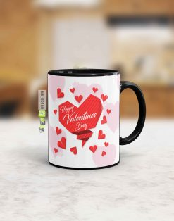 Custom printed red heart Valentine mug Pakistan B