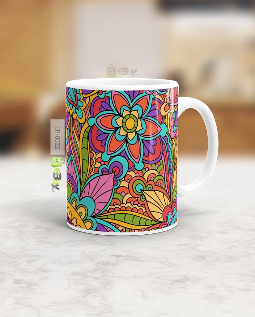 Flower Design Truck Art Mug Ebuy Pk