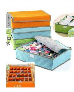 Foldable Fabric Clothes Storage Box 24 grid Organizer Online at Best Price In Pakistan