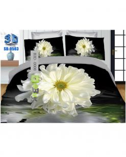 Grey Scale Square Printed 3D Bed Sheets At Best Price In Pakistan