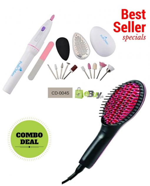 Hair Straightener Brush & Pedi Mate Online in Pakistan