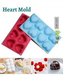 Heart Shaped Silicone 3D Mold online at best price in Pakistan