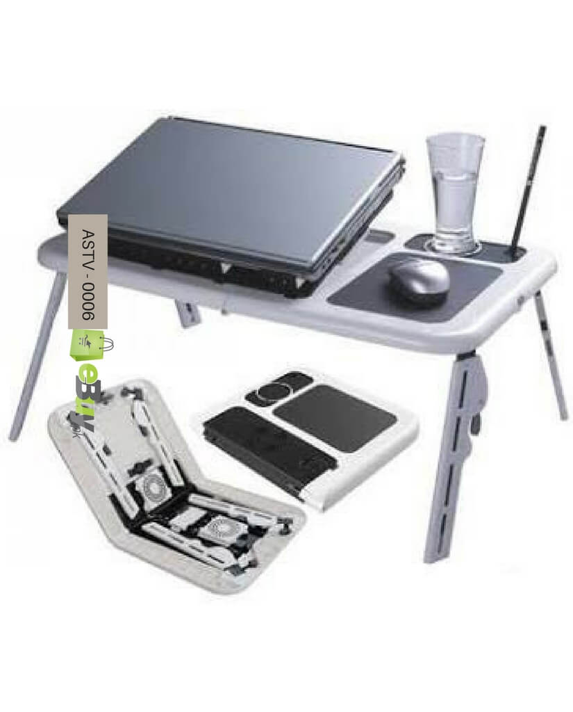 Buy Laptop Cooler Fans And Flexible Portable Table In