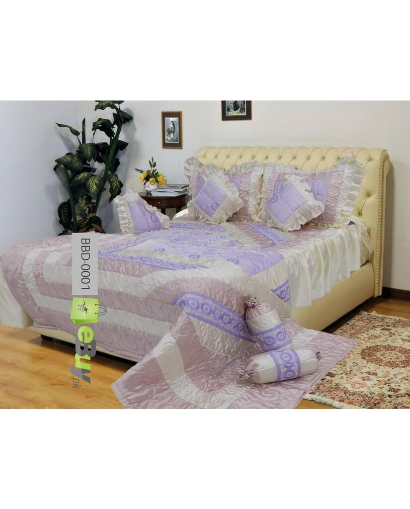 Light Purple Color Bridal Bed Sheets Online In Pakistan