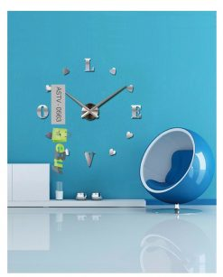 Love Mirror Style Wall Clock Diy At Best Price In Pakistan