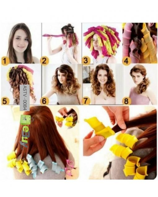 Magic Hair Styling Rollers Spiral Curlers Online in Pakistan