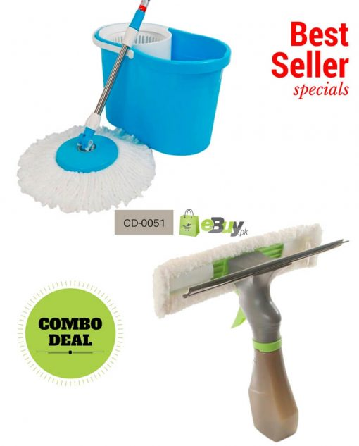 Magic Spin Mop & Spray Window Cleaner 3 in 1 in Pakistan