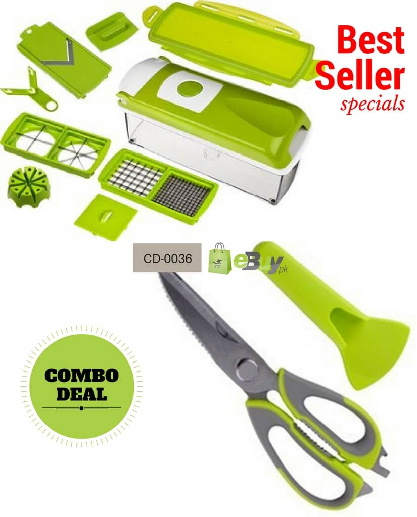 Mighty Shears Kitchen Scissor & Nicer Dicer Fruits And Vegetable Cutter