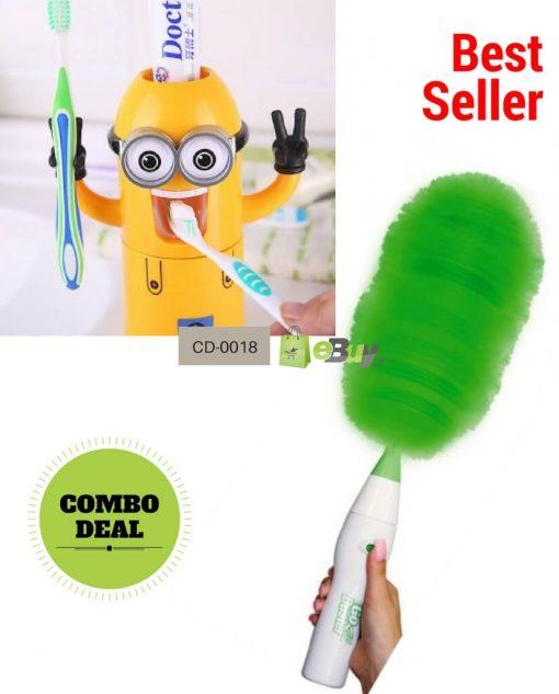 Minion Toothpaste Dispenser & Go Duster in Pakistan