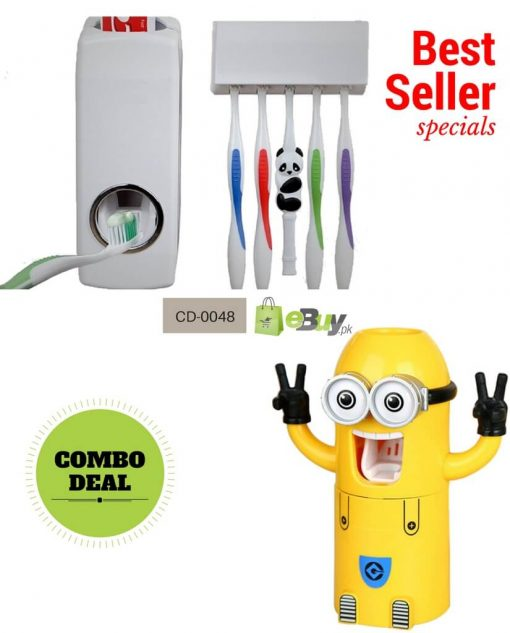 Minion & White Toothpaste Dispenser Onilne in Pakistan