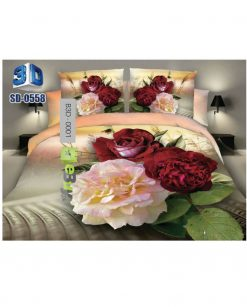Multi Color Flower 3D Bed Sheet At Best Price In Pakistan