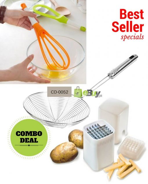 Oil Strainer, French Fries Cutter & Egg Beater in Pakistan