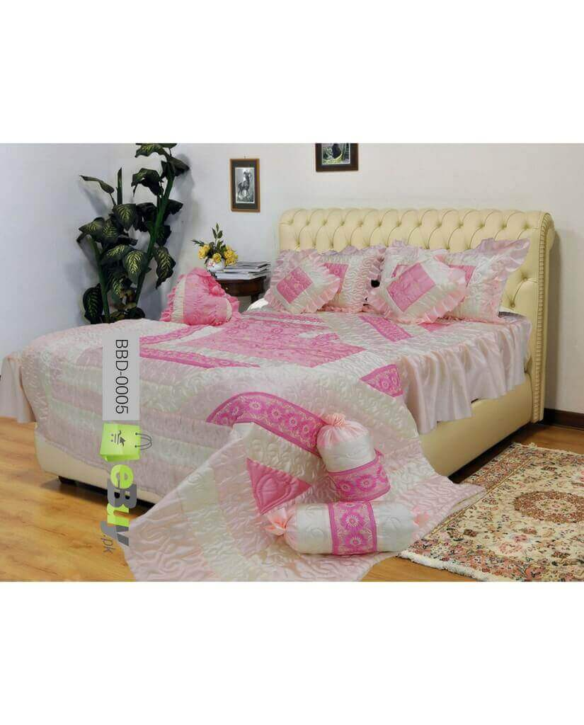 Attrayant Pink Color Bridal Bed Sheets Online In Pakistan