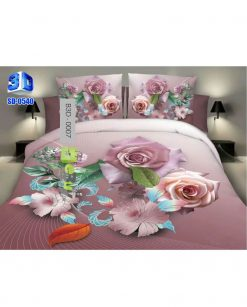 Pink Flower 3D Bed Sheets At Best Price In Pakistan