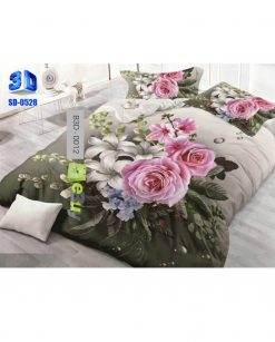 Pink Roses Printed Design 3D Bed Sheets At best Price In Pakistan