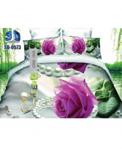 Pink flower Printed 3D Bed Sheet At best Price In Pakistan
