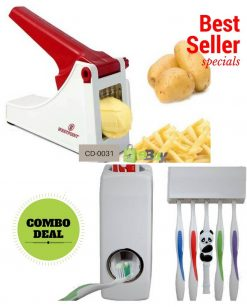 Potato Chipper & Toothpaste Dispenser Online in Pakistan