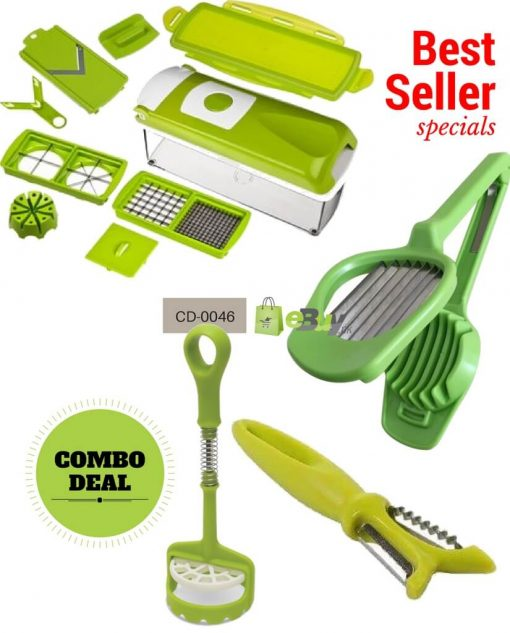 Potato Masher, Egg Slicer, Peeler & Nicer Dicer in Pakistan