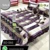 Purple Color Bridal Bed Sheets BD-066