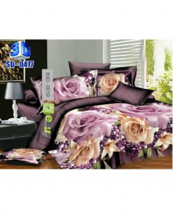 Purple Flowers 3D Bed Sheets At Best Price In Pakistan