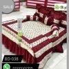 Red Color Bridal Bed Sheets BD-038