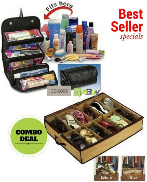 Roll N Go Cosmetic Bag & Shoes Organizer in Pakistan