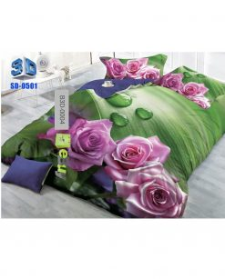 Rose & Butterfly Printed 3D Bed Sheet At Best Price In Pakistan