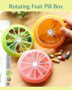 Rotating Fruit Pill Box Travel Medicine Tablet Organizer Online In Pakistan
