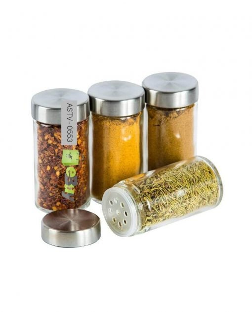 Rotating Stainless Steel Spice Rack Set of 16 Glass Spice Jars At Best Price In Pakistan 4