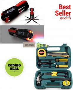 Screwdriver Set & Tool Set - 09 Pieces Online in Pakistan