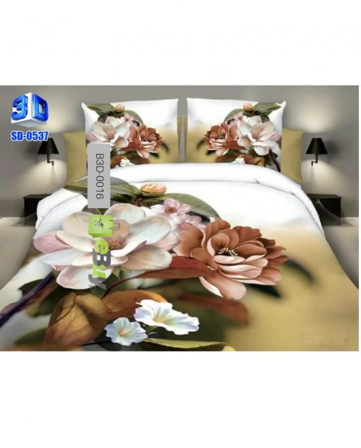 Seashells & Red Rose Design 3D Bed Sheets At Best Price In Pakistan