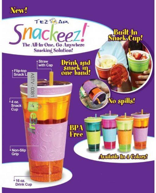 Snackeez 2 in 1 Snack & Drink Cup Online in Pakistan